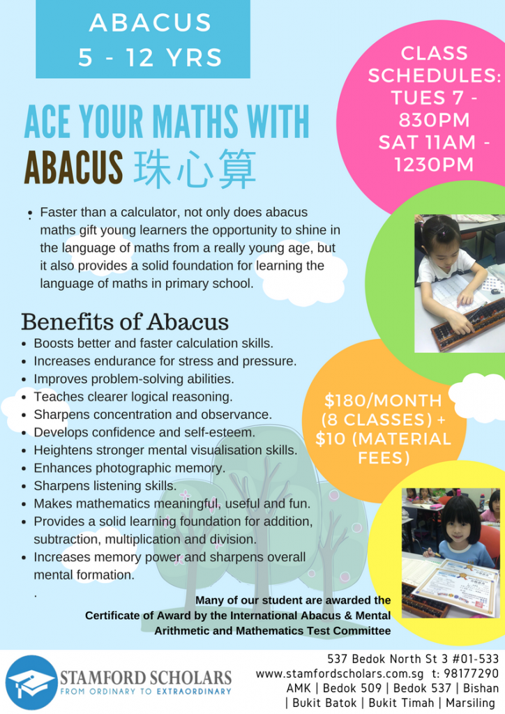 Ace your Math with Abacus at Bedok North - Stamford Scholars